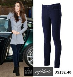 RepliKates of navy corduroy jeans