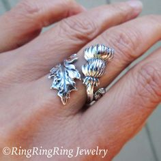 Thistle Ring Sterling Silver ring flower ring by RingRingRing