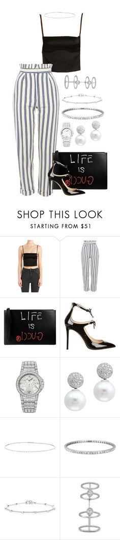 """Untitled #2767"" by moxfordf on Polyvore featuring Misa, Topshop, Gucci, Jimmy Choo, Harry Winston, Effy Jewelry, Suzanne Kalan, Tiffany & Co., Anne Sisteron and Messika"