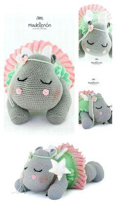 Amigurumi Hippo Free Pattern — Crochet Hippo Free Pattern Crochet Hippo, Crochet Dinosaur, Crochet Animal Amigurumi, Crochet Baby Toys, Crochet Quilt, Crochet For Kids, Crochet Dolls, Easy Beginner Crochet Patterns, Crochet Amigurumi Free Patterns