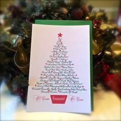 Christmas Tree-Names of Jesus