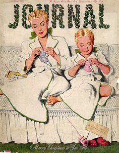 Journal Mother and Daughter Christmas Knitting  by ladydanio, via Flickr