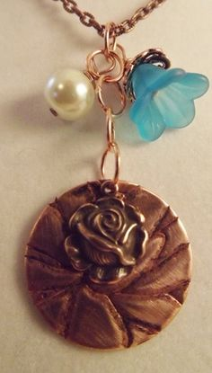 'Copper Flower Necklace' is going up for auction at  6pm Wed, Mar 6 with a starting bid of $7.