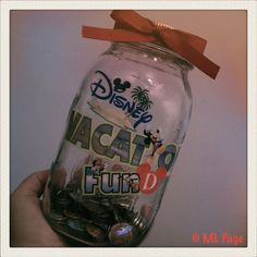 Disney DIY – Disney Vacation Fund Jar. Want to do for each kid for their own spending money.
