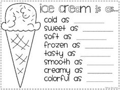 Simile activities for 2nd graders. Great ideas on this 2nd grade teacher's blog.