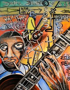blues folk art | ... , Dated, TitledReady to hangKamar Varnish***Now Thats Better Blues