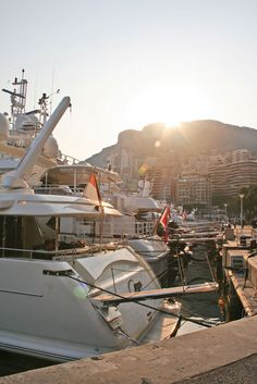 Yachts in the Monte Carlo marina.