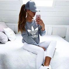 Her style #sunset #fashion #tumblr #tumblrgirl #outfit #white #adidasgirl #clothes #luxury #glam #stylish #grunge #grungegirl