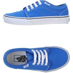 Vans Low-Tops & Trainers ($42) ❤ liked on Polyvore featuring shoes, sneakers, vans, zapatos, blue, blue sneakers, round toe sneakers, vans sneakers, blue shoes and round toe shoes