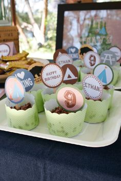 Camping Party for Ethan's 9th Birthday | CatchMyParty.com