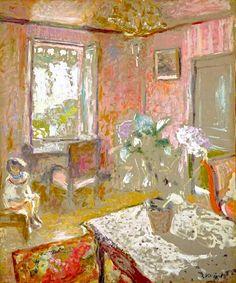 La chambre rose (The Pink Bedroom) by Jean Edouard Vuillard