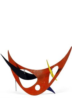 Alexander Calder, Red Skeleton, 1945 Painted metal and wire standing mobile