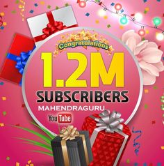 Good News--New Milestone Achieved  We have completed #12_Lakh_Subscribers on Mahendra Guru YouTube Channel.  Thanks a lot for your efforts & support. Soon we'll accomplish the next level & will set a new benchmark.  It has been said by someone great: Great things are not done by impulse, but by a series of small things brought together.  SUBSCRIBE FOR MORE LATEST VIDEOS !!! https://www.youtube.com/channel/UCiDKcjKocimAO1tVw1XIJ0Q?sub_confirmation=1