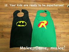 DIY Batman and Robin capes