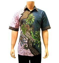 baju kemeja batik pria modern