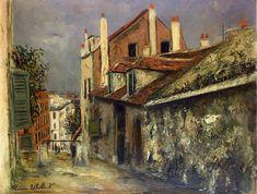 Maurice Utrillo (1883-1955) - La Maison de Mimi Pinson à Montmartre