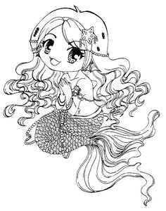 Mermaid Under The Sea Little Diy Mermaids Digi Stamps Digital Image Coloring Pages Adult Colouring