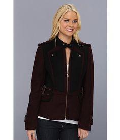 Sam Edelman Contrast Wool Military Peplum Jacket