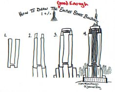 how to draw empire state building