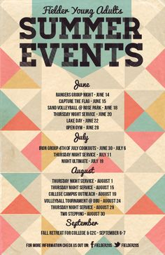 Summer Events Calendar:: Event Posters by Lauren Hill, via Behance