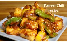 Chilli Paneer is a popular Indo-Chinese dish. Chilli Paneer makes a spicy flavorful starter especially for many of my friends who enjoy the spicy food. Chilli Paneer can also be served as a side dish. This is absolutely delicious and easy to make. Chili Paneer Recipe, Paneer Recipe Video, Paneer Recipe In Hindi, Chilli Paneer, Paneer Recipes, Chilli Recipes, Indian Food Recipes, Vegetarian Recipes, Cooking Recipes
