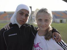 #friendship #football #Israel #Palestine #peace #travel #girls  copyright by Luca Zordan