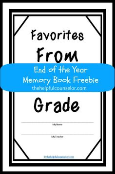 End of the year - Memory Book Freebie! #memorybook