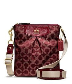 COACH MADISON DOTTED OP ART CLASSIC SWINGPACK-Available at Dillards.com