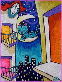 Cat moon by EvilChick, via Flickr