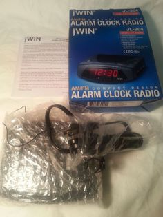 New Jwin JL-204 Alarm Clock Radio AM/FM Large LED Display In Open Sealed Box #Jwin Digital Clock Radio, Desktop Decor, Radio Alarm Clock, Buzzer, Display, Consumer Electronics, Box, Garden, Student