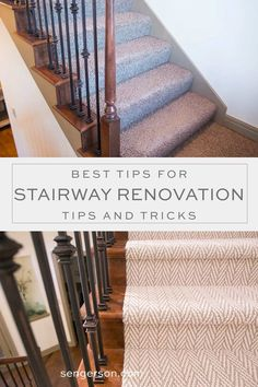 Top US lifestyle blogger, Sengerson, features her tips and tricks for your staircase renovation from professionals with Hollywood carpet stairs. Click here! Staircase Wall Decor, Stairway Decorating, House Staircase, Staircase Remodel, Staircase Makeover, Staircase Design, Staircase Ideas, Staircase Runner, Stairway Carpet