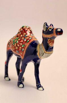 Multi Color Ceramic Camel
