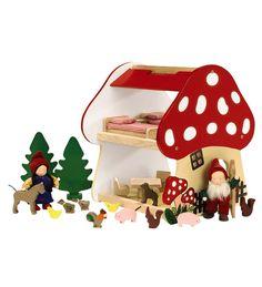 une maison champignon pour petits lutins