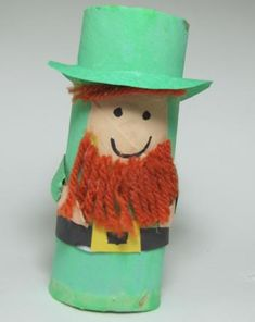 Your first grader will enjoy creating his own leprechaun from a recycled toilet paper tube.