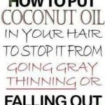 How to Put Coconut Oil to the Hair and Stop Premature Hair Graying, Thinning, and Falling - All About Hairstyles Overnight Hair Growth, Stop Hair Breakage, Hair Design, Overnight Hairstyles, Hair Issues, Hair Essentials, Essential Oils For Hair, Extreme Hair, Hair Growth Oil