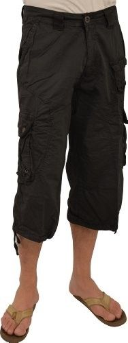 X-Ray Men's Cargo Capri Shorts- Color Khaki: Clothing | Fashion ...