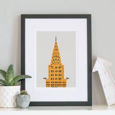 Fox & Velvet New York Chrysler Building Print