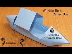 Paper Boat that Floats on Water - Cool amazing Origami Boat Tutorial (paper craft) Creative X - YouTube
