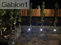 night gabion retaining wall, http://www.gabion1.com.au