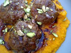 Moroccan Lamb Meatballs with Carrot Puree and Pomegranate Reduction — Some Like It Paleo