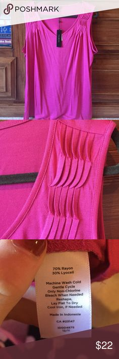 NWT Talbot Fuschia Sleeveless Top NWT. A really beautiful color with detailing on the top. Talbots Tops