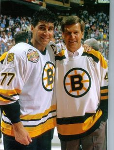 Ray Bourque and Bobby Orr Boston Bruins NHL Hockey Comments.