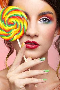 I think it'd be the funnest thing to do a candy-inspired makeup photo shoot.