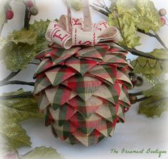 Hey, I found this really awesome Etsy listing at http://www.etsy.com/listing/169381542/ribbon-christmas-ornament-pine-cone