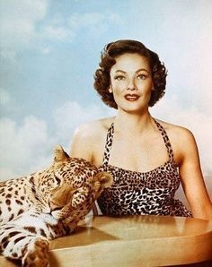 0 gene tierney and leopard