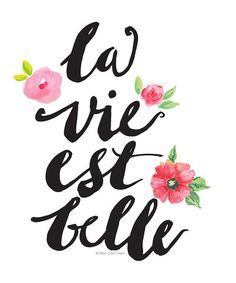 This 'La Vie Est Belle' Print is perfect! #zulilyfinds