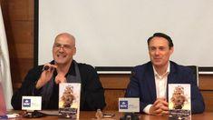 Carlos Álvarez Méndez y Angelo Olivier, de izquierda a derecha. Mac, Writers, Poppy
