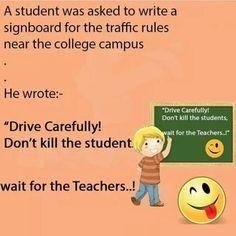 Don't kill student , wait for teacher  #FunnyPictures #FunnyJokes #Teacherandstudent