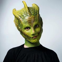 Makeup FX veteran Neill Gorton recreated his amazing Madame Vastra makeup from the 'Doctor Who' series! (Assisted by Robert Lindsay) Portrayed by Bonnyjean Hoffert