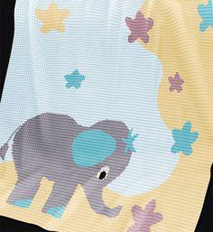 CROCHET Pattern - Baby Blanket Pattern - Stargazer - Crochet Graph - Elephant Crochet Pattern - Afghan Crochet Pattern - Elephant Graph by PatternWorldUK on Etsy https://www.etsy.com/au/listing/241925548/crochet-pattern-baby-blanket-pattern